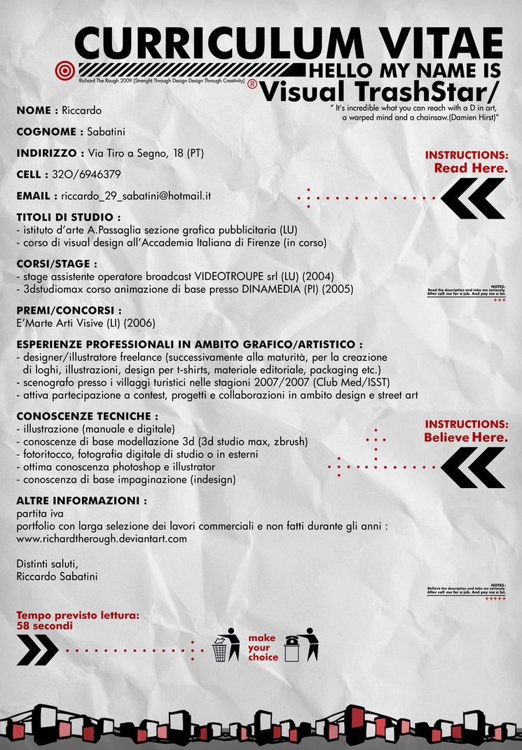 Ispirazione Curriculum Vitae Per Web Designer E Grafici – Munity